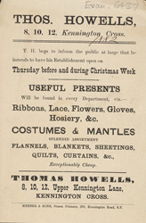 Advertisement for Thomas Howells' store 6437